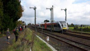 Aktuell fallen die Züge der Hessischen Landesbahn im Wetteraunetz aus, wie hier in Beienheim auf den Linien RB 47 Friedberg-Wölfersheim und RB 48 Friedberg-Nidda aber auch auf der RB 46 Gießen-Nidda-Gelnhausen und RB 16 Friedberg-Friedrichsdorf und diese sollen durch Busse ersetzt werden.