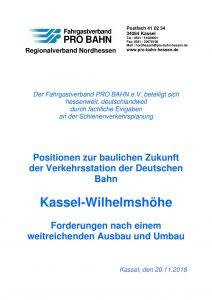 Der PRO BAHN Regionalverband Nordhessen zeigt 10 Positionen für einen zukunftsweisenden Umbau auf.