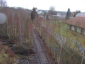 Die Kanonenbahn bei Frielendorf im Schwalm-Eder-Kreis.