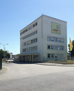 Zentrale/Betriebshof der Hanauer Straßenbahn (HSB) AG in Nachbarschaft zum Hbf.