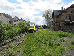 Der Bahnhof Treis a.d. Lumda.